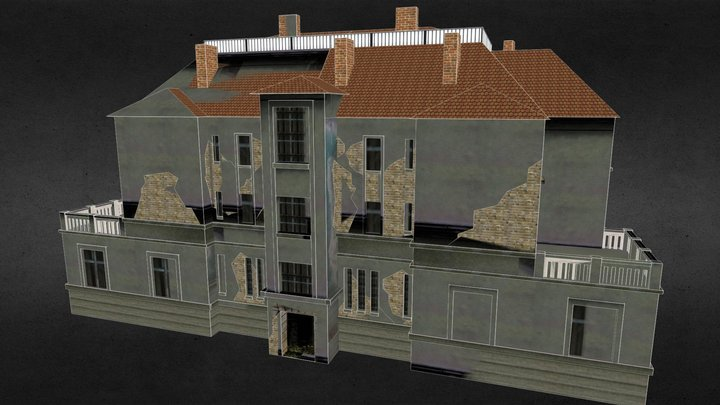 Abandoned industrial house 3D Model