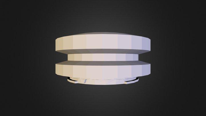 M4/3 Locking Body Cap 3D Model