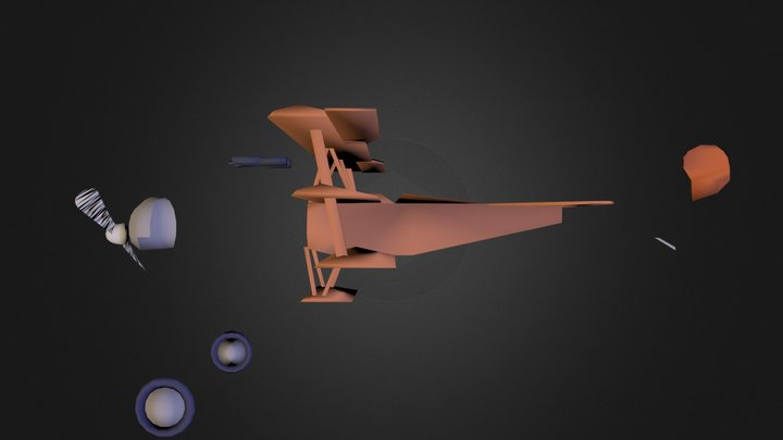 AVION34 (TRIPLANO).3DS 3D Model