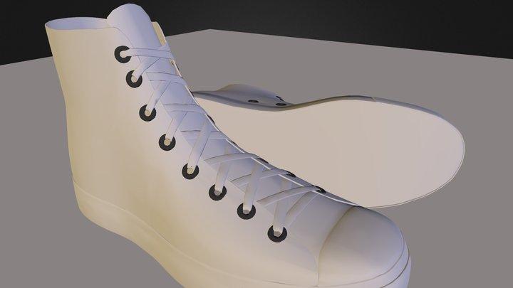 Converse_Shoe_002 3D Model