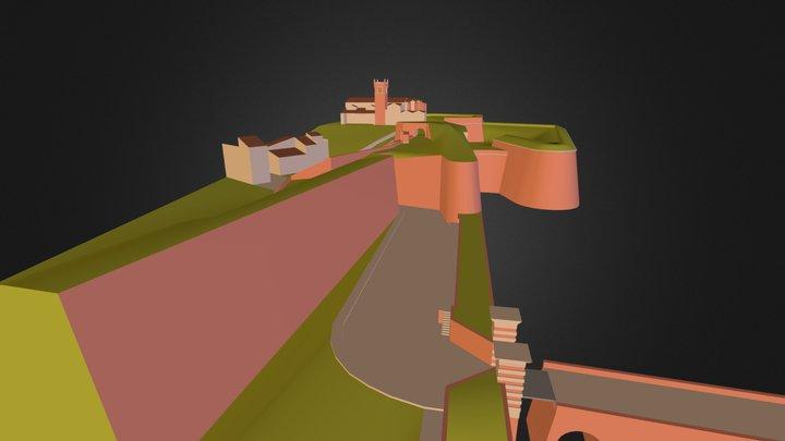 Perpignan Porte de Canet détail 1 3D Model
