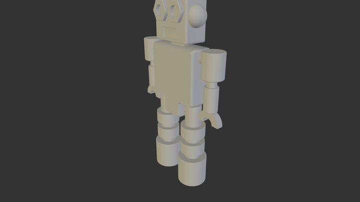 robot llavero.3DS 3D Model