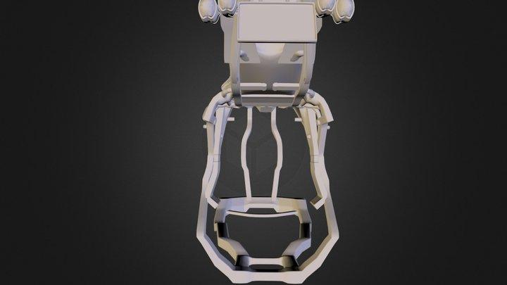 Jackal Black Main Body and Bars.obj 3D Model