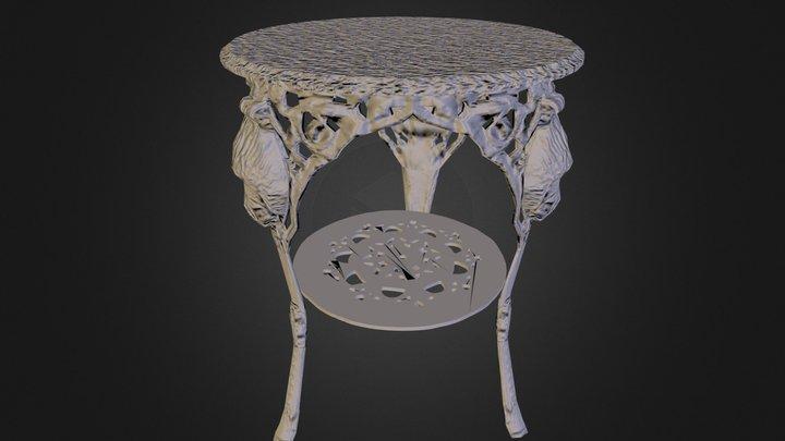 Cast Iron Table leg 3D Model