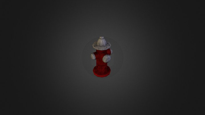 fire hydrant low poly.obj 3D Model