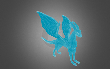 dragon2_4_rigged2_animated2.blend 3D Model