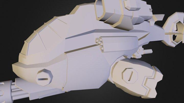 Piranha Gunship (WIP)  3D Model