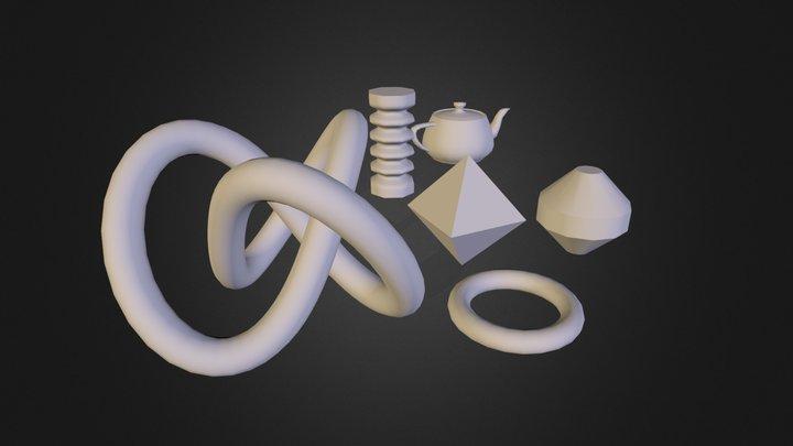 sample_scene_2.obj 3D Model