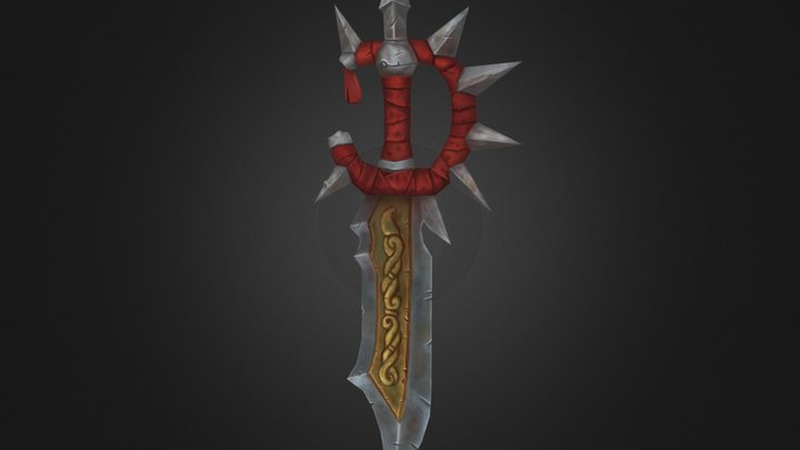 Handpainted Sword 3D Model