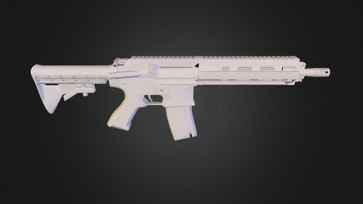 HK416.obj 3D Model