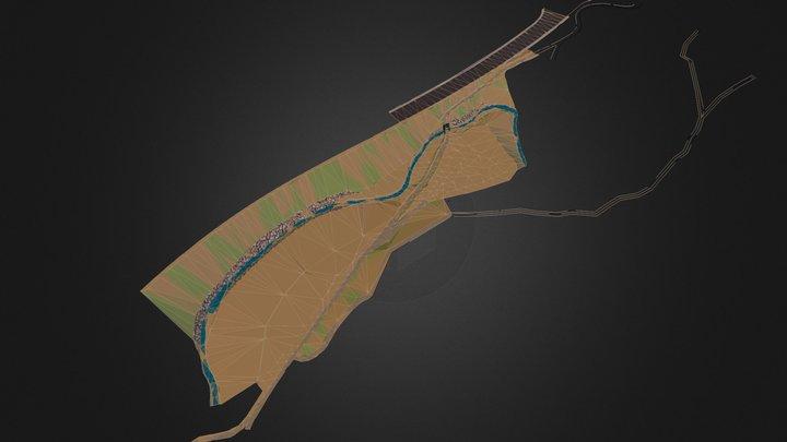 RIERA JUNTO ENLACE TRES CAMINS 3D Model