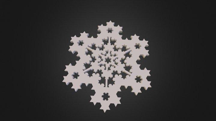 koch_three_snowflake.stl 3D Model