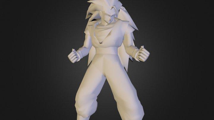 Goku SS3.obj 3D Model