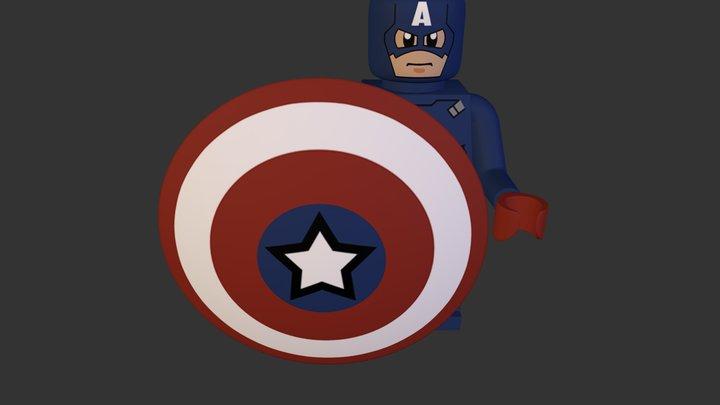 Captain America.obj 3D Model