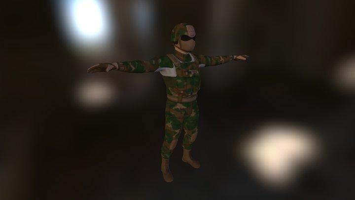 Combat Hunter Foe 3D Model