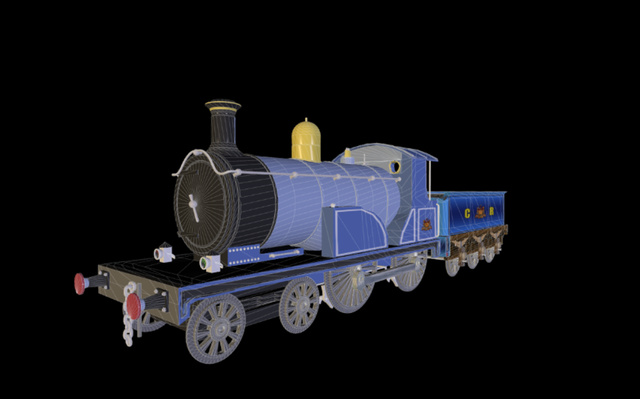 Dunalistair 4-4-0 Locomotive 3D Model
