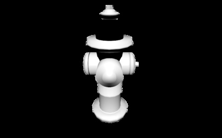 hydrant winging it3 with simple tex.blend 3D Model