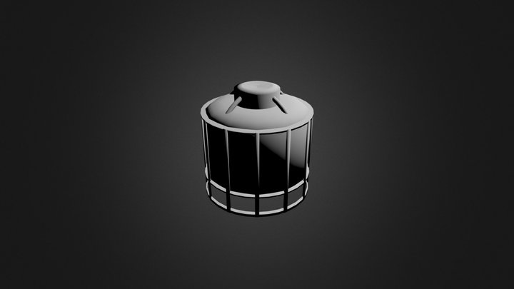 Crystal Raw Storage (Top Fairing Removed) 3D Model