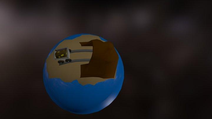 Toon Metal Planet 1 3D Model