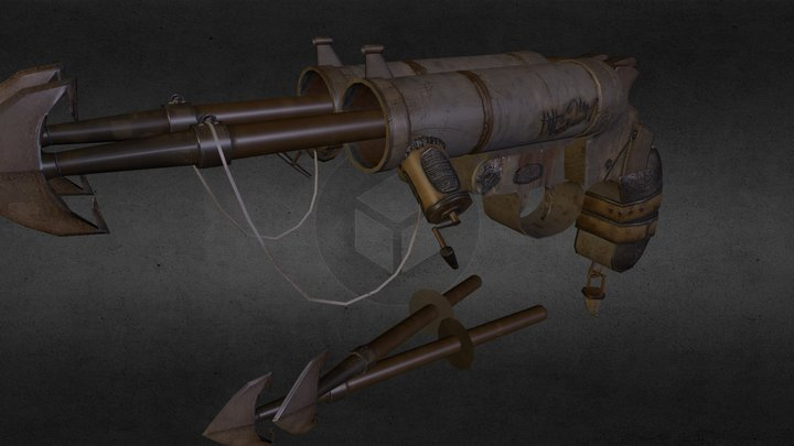 Japanese Early Kayaba Flare Pistol 3D Model