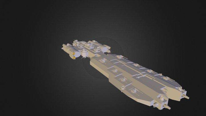 Freyja Destroyer.dae 3D Model