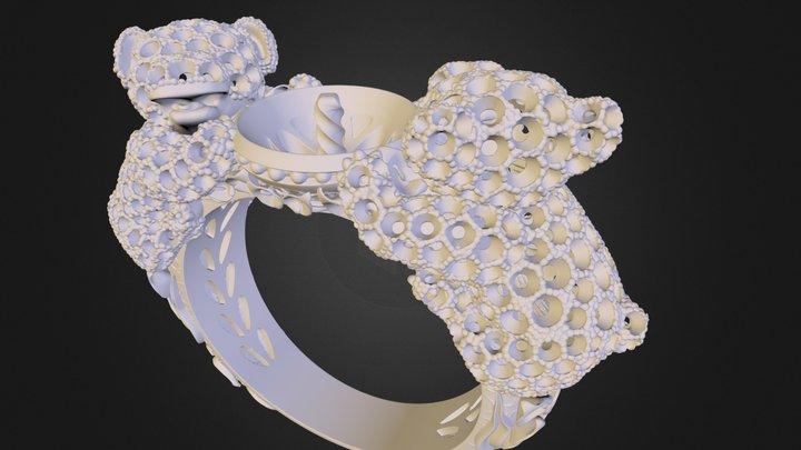 Panda Ring, 90% decimation (Vizup demo model) 3D Model