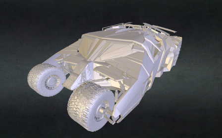 Batman Tumbler 3D Model