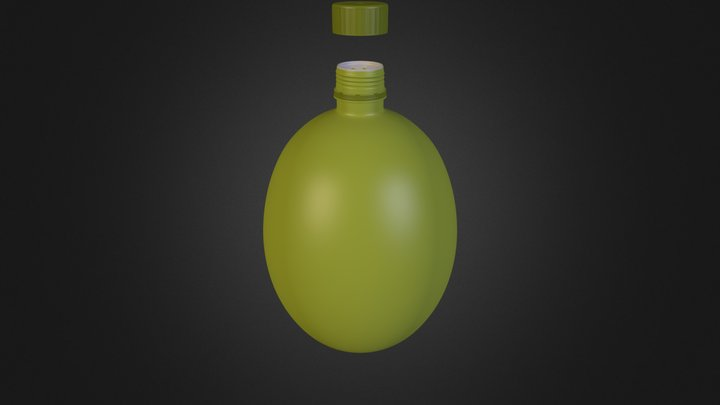 botella 1 recta.blend 3D Model